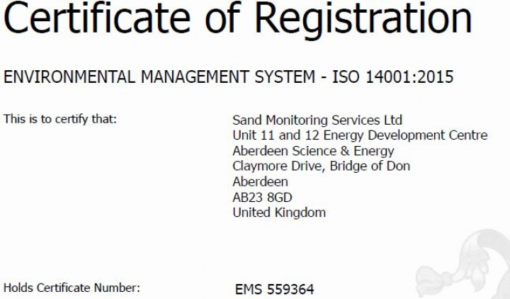 Successful Re-certification ISO 14001:2015